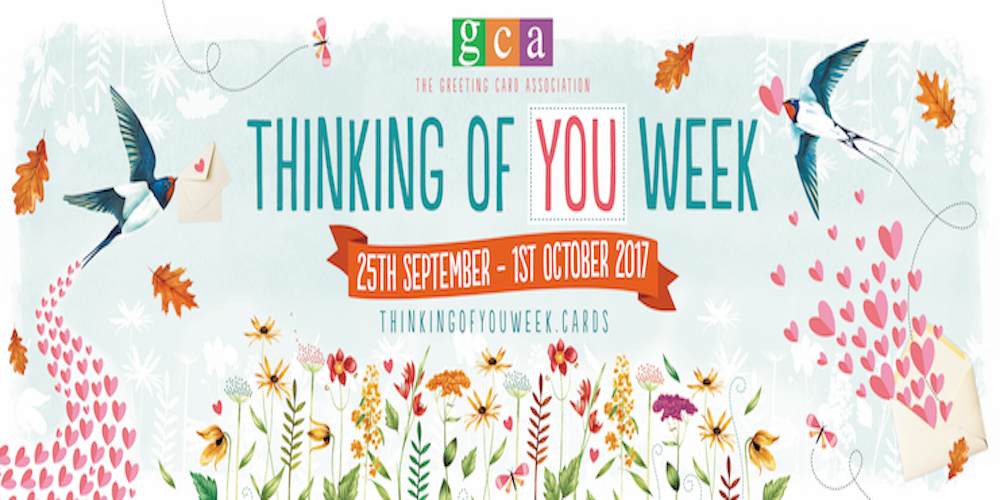 Celebrate Thinking of You week Sept 25th - Oct 1st 2017