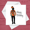 Ethnic Black African Birthday Cards  with woman wearing kente African wax print dashiki