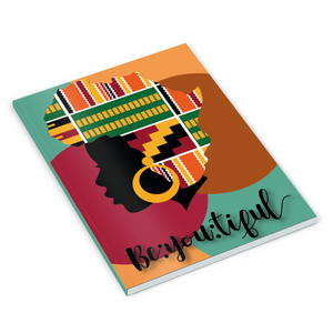 Ethnic Black African notebooks finished with wax African print fabric image