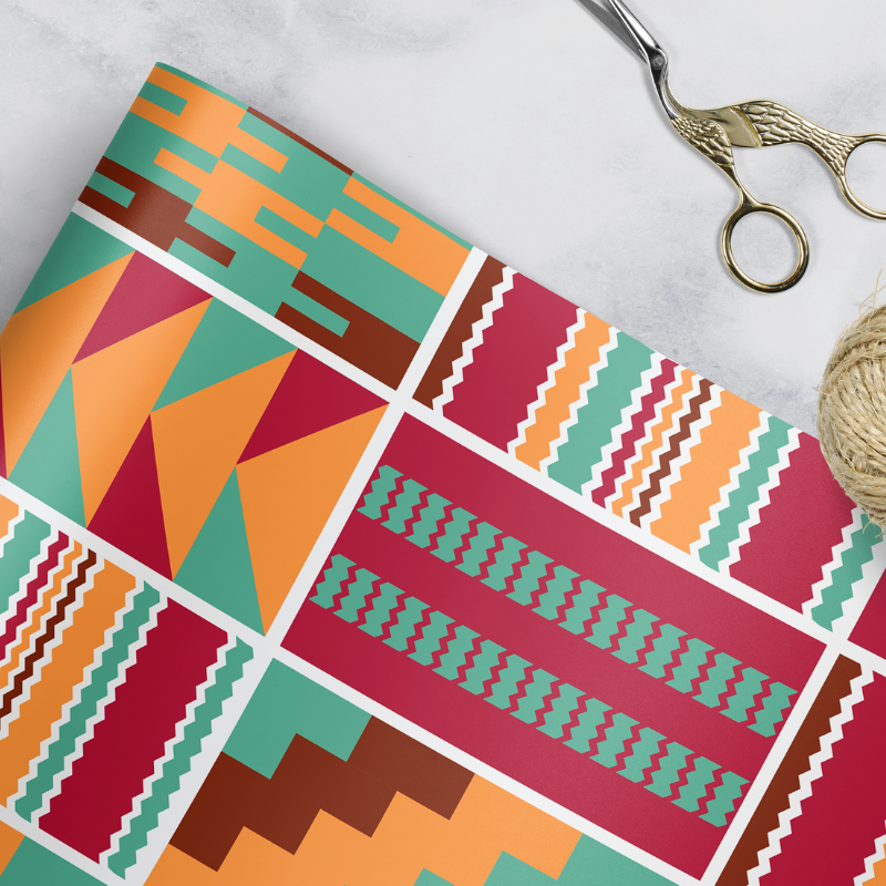 Kente Twist Gift Wrap