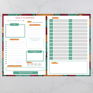 Daily Planning Sheet | AfroTouch Design