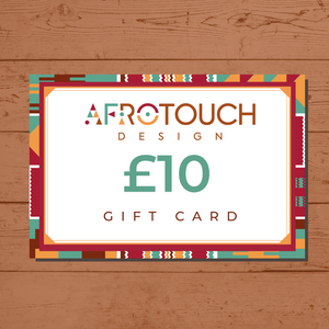 Afrotouch Design Gift Card Voucher to buy African Ethnic Greeting Cards and Diverse Stationery and Gift items
