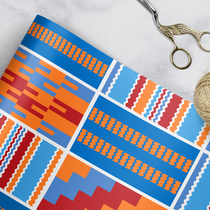 Kente Blue Gift Wrap
