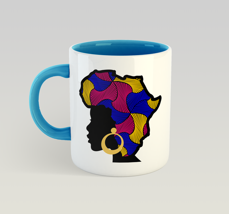 African Queen Mug (Swirls)