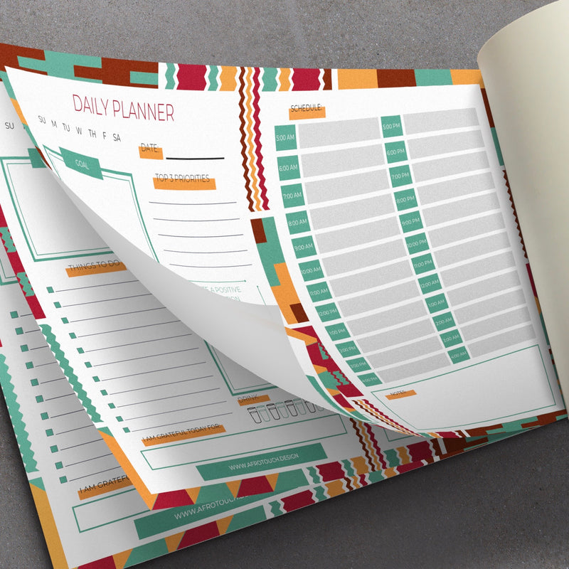 Afrotouch Design Daily Planner