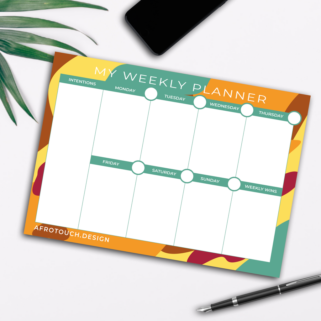 Safari Weekly Planner | AfroTouch Design