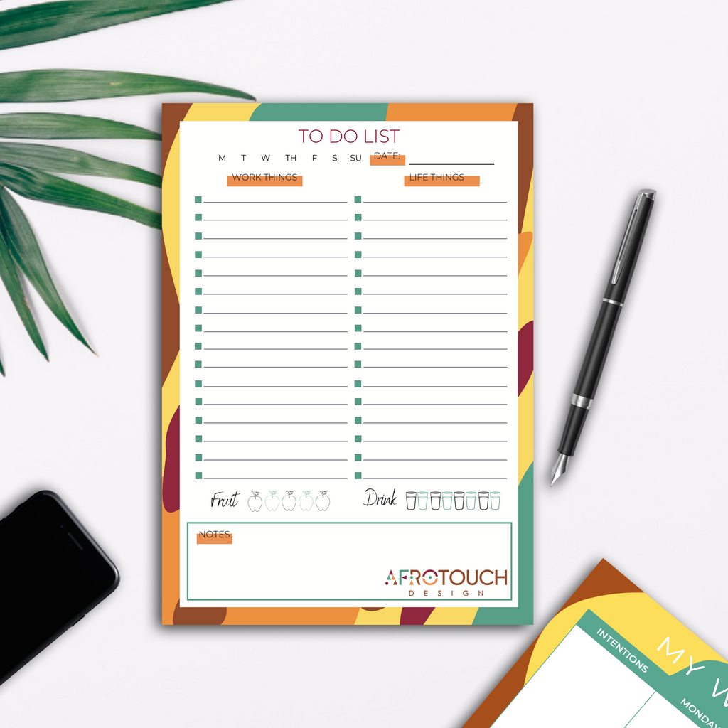 Safari A5 To-Do-List | AfroTouch Design