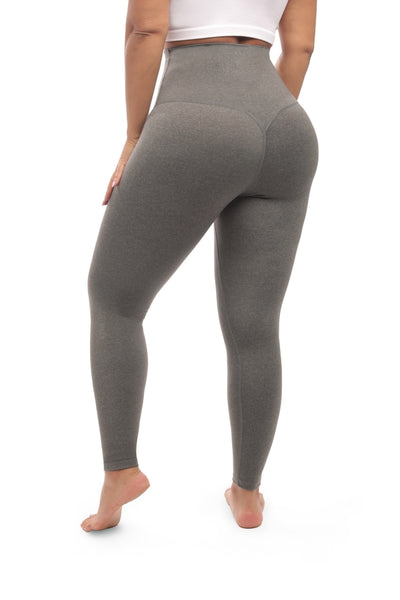GRAY V-SHAPE LEGGINGS