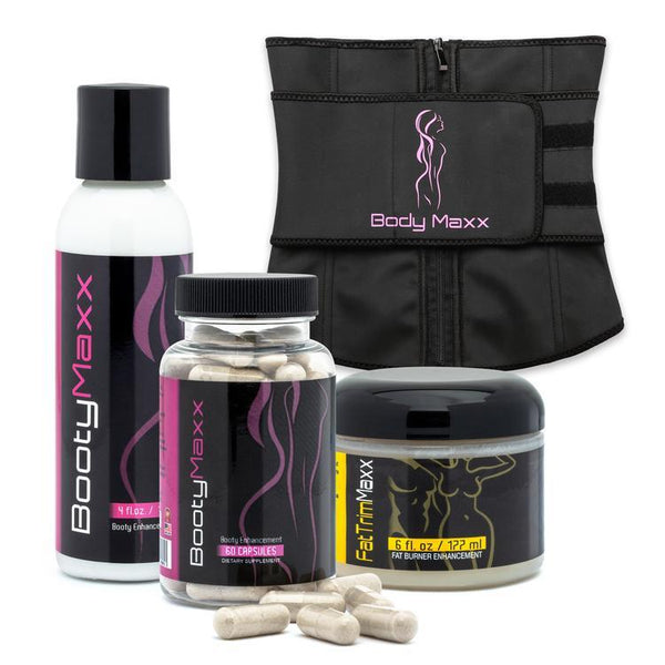 booty maxx kit and fat trim cream and waist trainer
