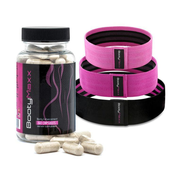 Booty Maxx Pills + Booty Fitness MAXX Kit (3 Bands)