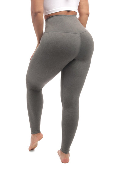 GRAY BODY CONTOURING LEGGINGS