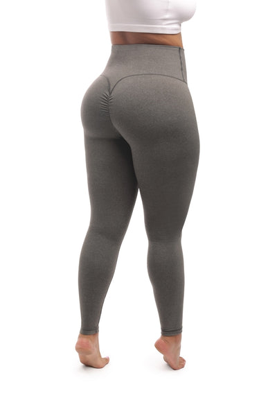 GRAY SCRUNCH BOOTY LEGGINGS