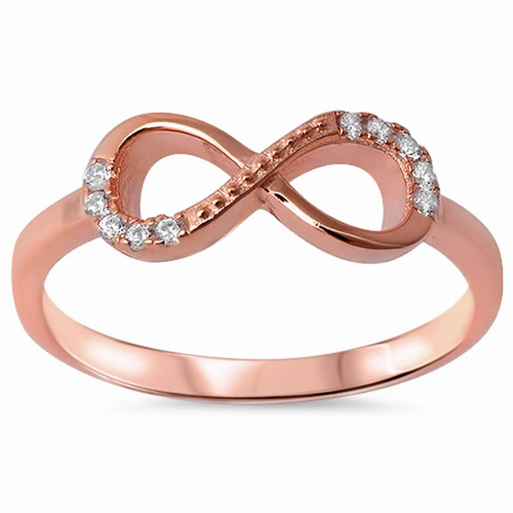Rose Gold Overlay Infinity Ring