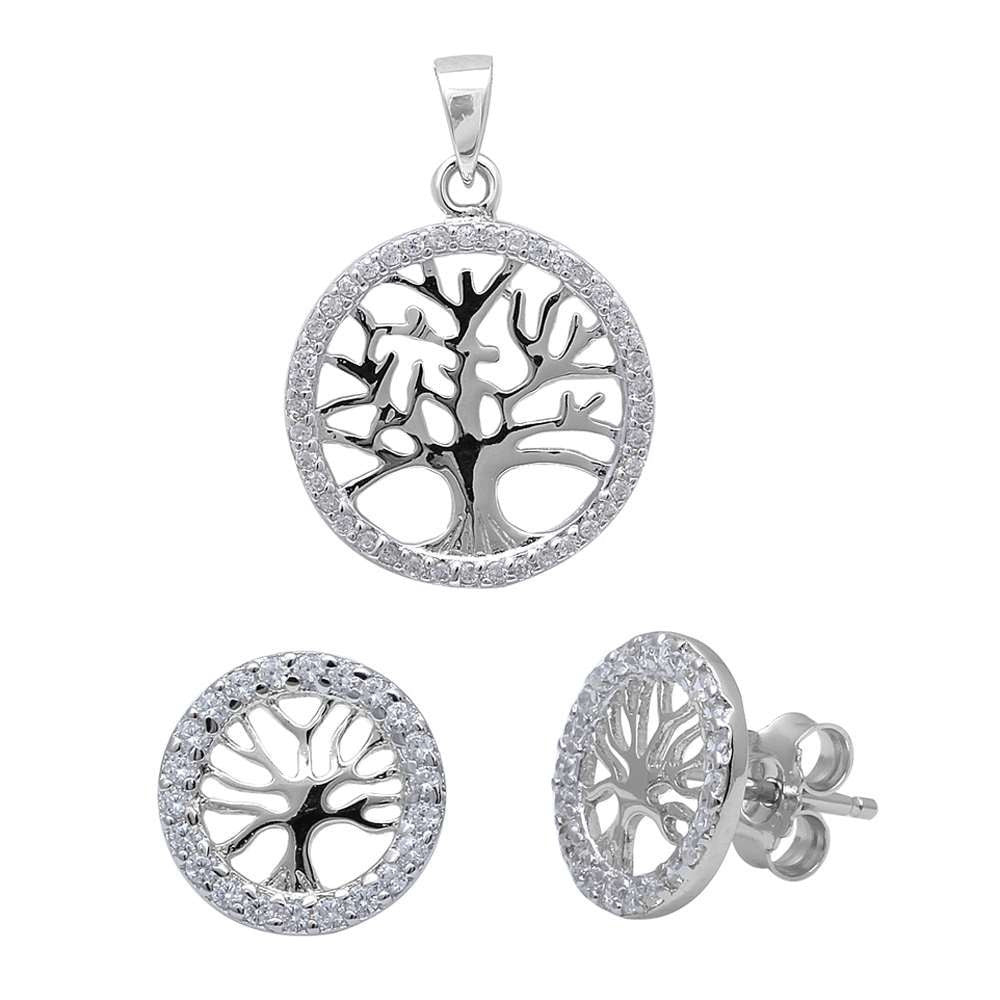 Tree of Life Earring and Pendant Set