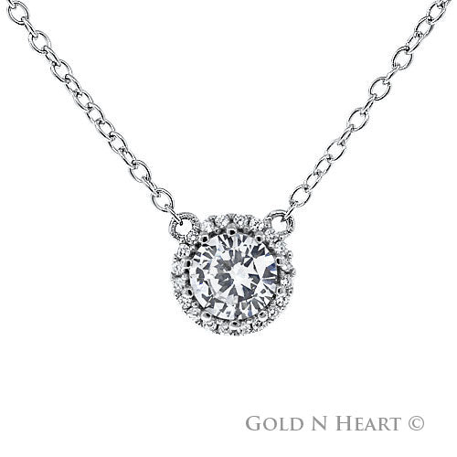 Solitaire 1 carat necklace