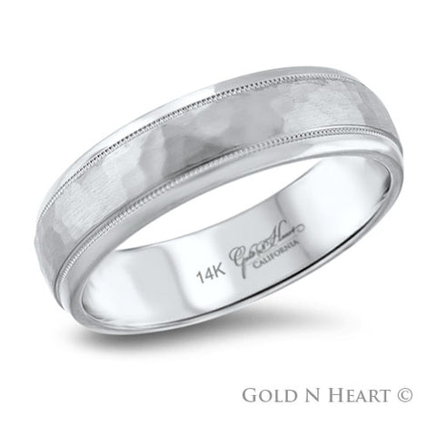 Hammered Gents Wedding Band