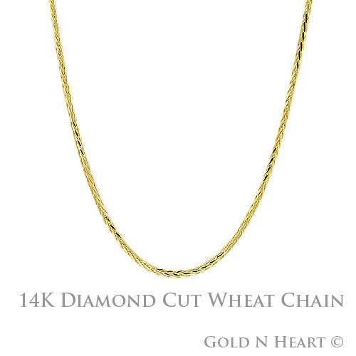 Wheat Chain - 1.25mm Round with Lobster Clasp (030)
