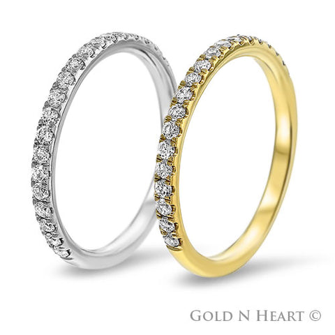 Micropave Straight Diamond Ring