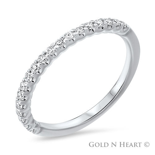Share Prong 14K Diamond Band - Small