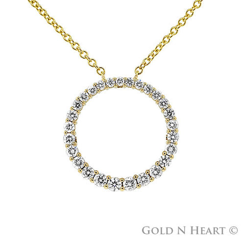 Graduated Diamond Circle Necklace
