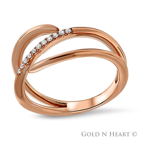 """Orion"" - 14K Rose Gold Finger Wrap Ring"