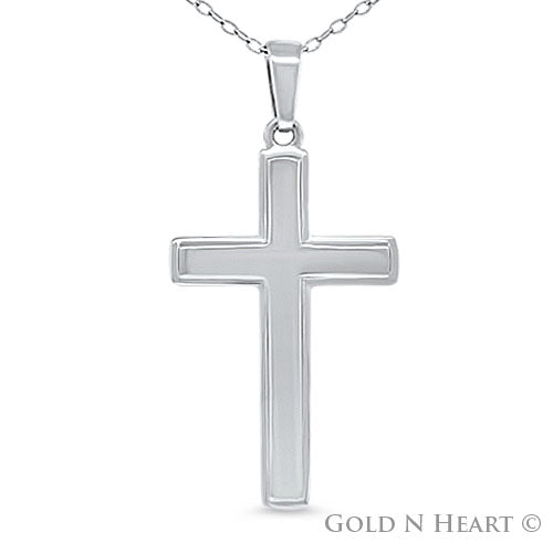 High Polish Mid Size Cross Pendant