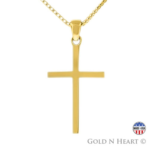 Perfect Cross - Solid 14K Yellow Gold