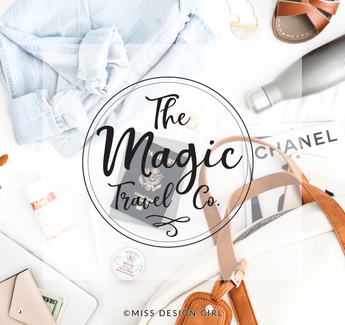 MAGIC TRAVEL CO. PREMADE LOGO