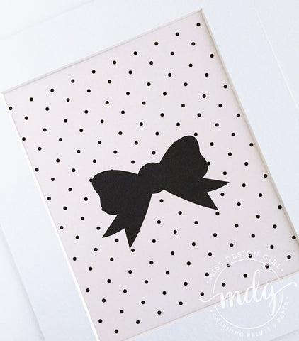 Polka Dot Bow Printable