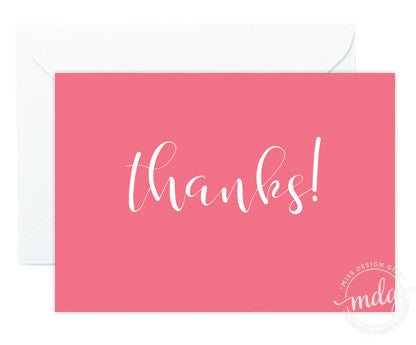 Thanks Note Card Set