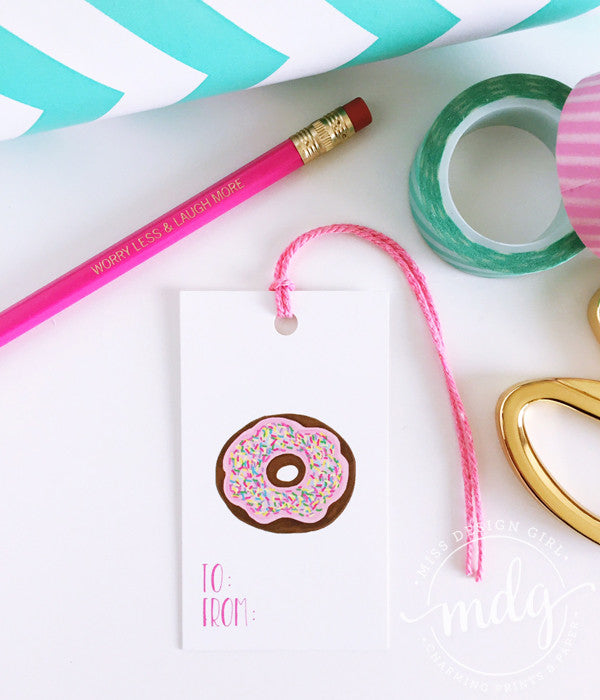 Donut Gift Tags