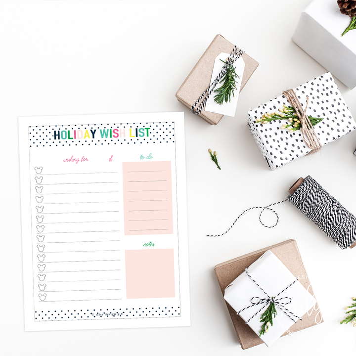 Magical Holiday Shopping List Printable