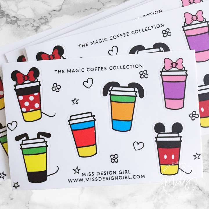 The Magic Coffee Collection Stickers