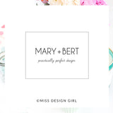 Mary + Bert Logo Design