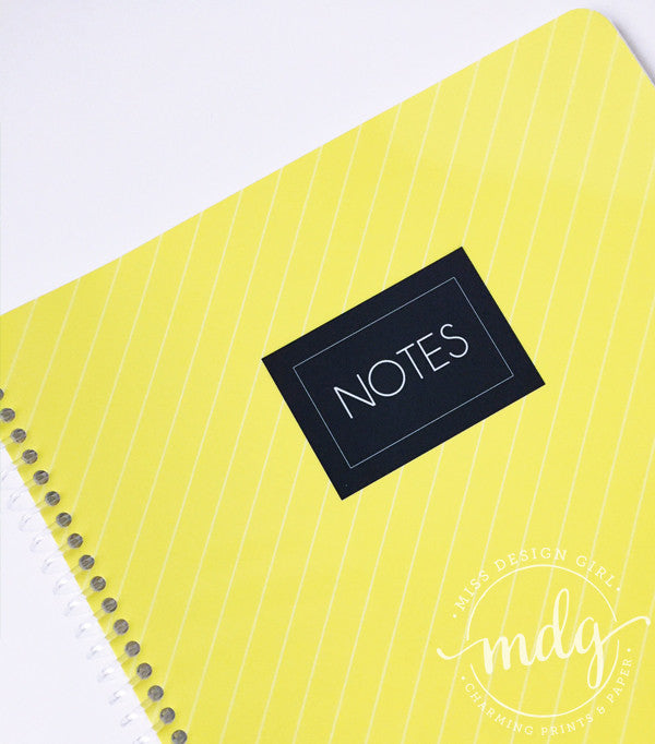 Yellow Lines Notebook