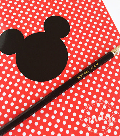Mouse Ears Red Polka Dot Notebook
