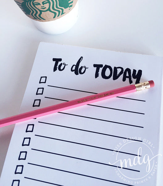 To Do Today Notepad