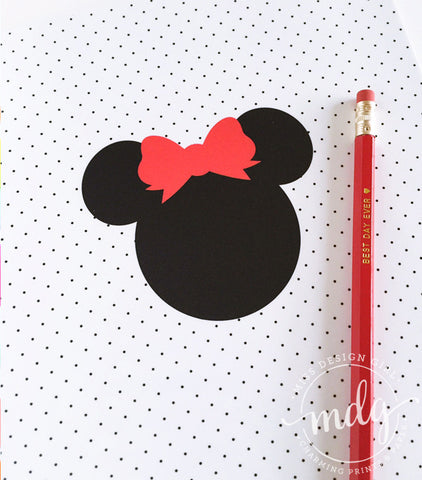 Mouse Ears with Bow Notebook
