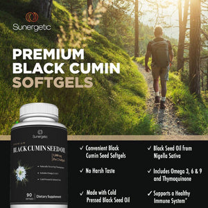 Premium Black Cumin Seed Oil Supplement - Sunergetic Products