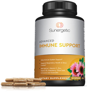 Advanced Immune Support Supplement - 60 Capsules - Sunergetic Products