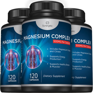 Magnesium Citrate & Oxide Supplement - Sunergetic