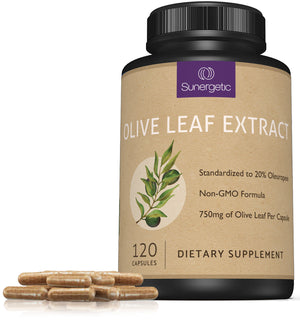 Premium Olive Leaf Extract - 750mg Per Capsule - Sunergetic Products