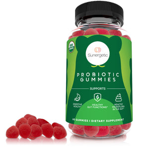 Organic Probiotic Gummies – 5 Billion CFU Per Serving - 60 Probiotic Gummies - Sunergetic