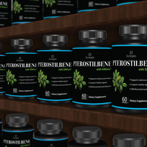 Powerful Pterostilbene Supplement - With Resveratrol & Quercetin - Sunergetic Products