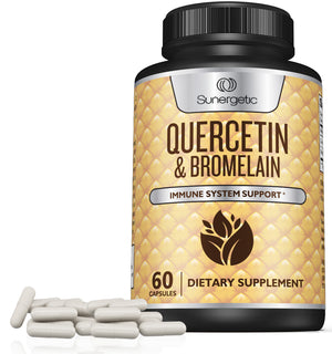 Sunergetic Premium Quercetin & Bromelain Supplement - 1200mg per Serving - Sunergetic