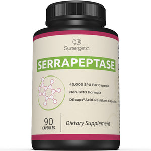 Premium Serrapeptase Enzyme Supplement - Sunergetic