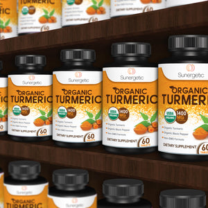 Premium Organic Turmeric - 1400 MG per Serving - Sunergetic