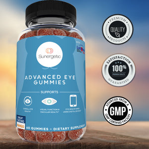 Premium Eye Support Gummies - With Lutein & Zeaxanthin - 60 Gummies - Sunergetic