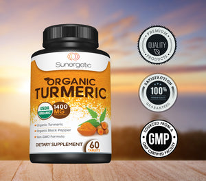 Premium Organic Turmeric - 1400 MG per Serving - Sunergetic Products