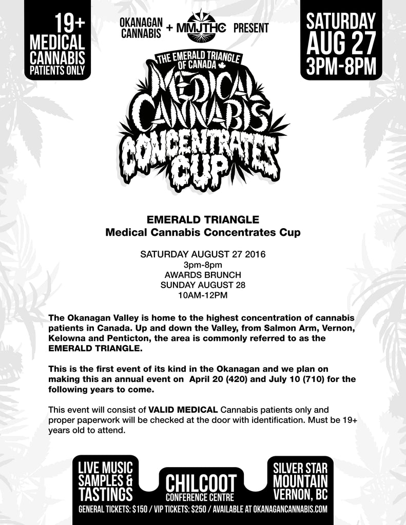 Medical Cannabis Concentrates Cup Ticket Info